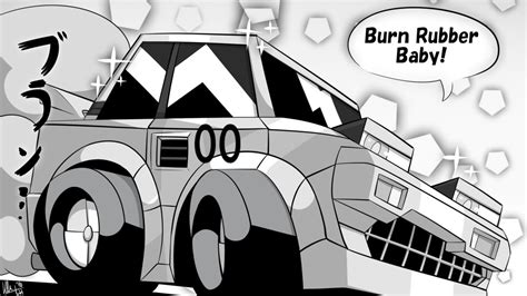 Choro Q Drawing by Choro Q Hg 4 Eclipse Burn Rubber Baby By