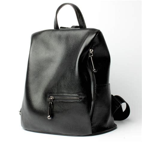 mochilas de cuero negro mejor mayoristas de mochila de piel de calidad para las