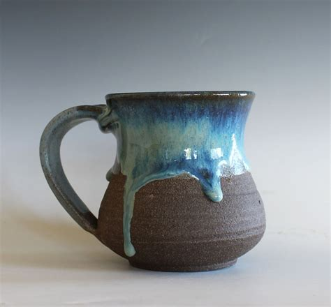Handmade Ceramic Mugs - pottery mug 14 oz handmade ceramic cup handthrown mug