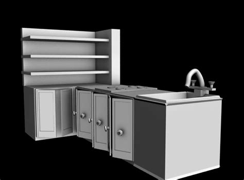 kitchen platform kitchen platform free 3d model max