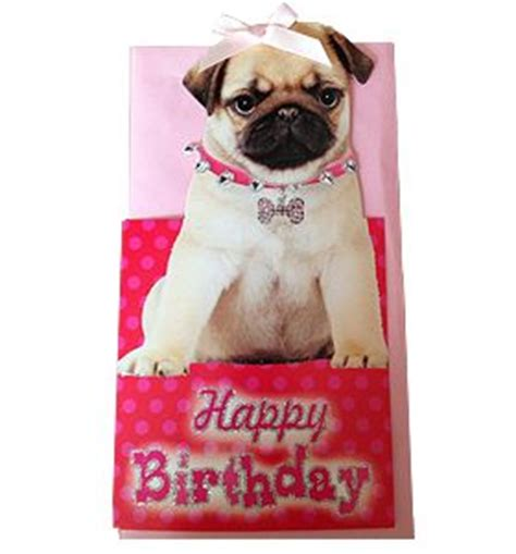 pug birthday card pin by walker on i pug products