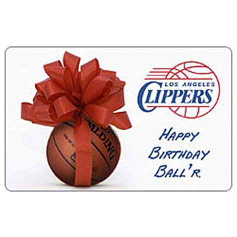We Buy Gift Cards Los Angeles - nba los angeles clippers birthday gift card findgift com