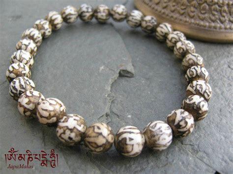 mantras for mala conch shell mantra carved bracelet mala japa mala bead