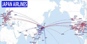 Flight Route Map international flights japan airlines route map