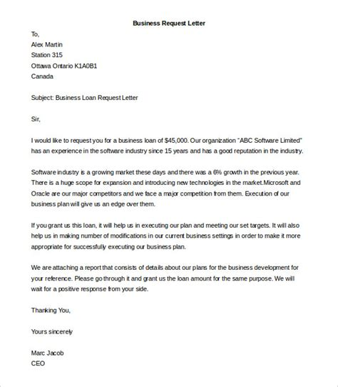 Business Letter Template Request Business Letter Template 44 Free Word Pdf Documents Free Premium Templates