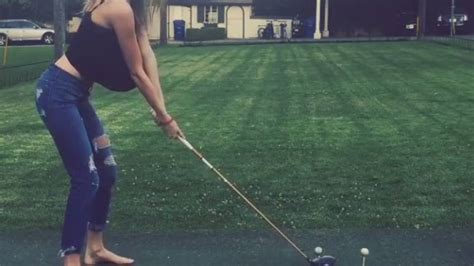 golf swing secret victoria s secret model plays golf rtm rightthisminute