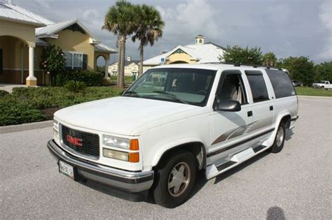 how to sell used cars 1995 gmc suburban 2500 parking system sell used 1995 gmc suburban 57k miles florida vehicle super clean rust free no reserve in punta