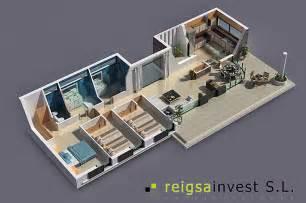 Planos De Casas En 3d Plano 3d De Casa De Una Sola Planta Planos De Casas