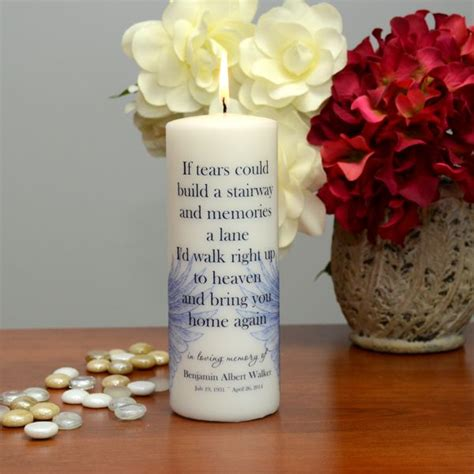 Happy Mee Baby Unscented stairway to heaven personalized memorial candle