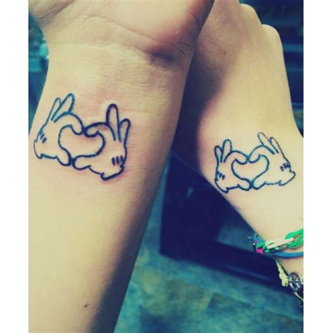 disney sister tattoos best friend tattoos mickeymouse disney bestfriends