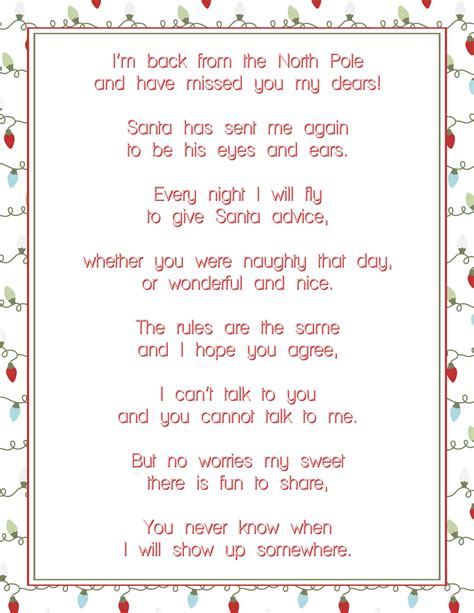 printable elf on the shelf goodbye poem free elf on the shelf printable fancy shanty