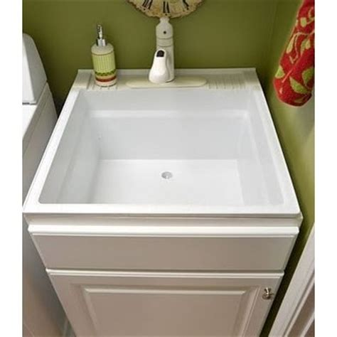 utility sink with cabinet base images