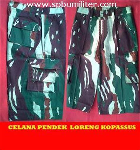 Kaos Loreng Kopassus Pendek celana pendek loreng kopassus spbu militer
