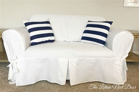 pottery barn white couch pottery barn white sofa look for less the latina next door