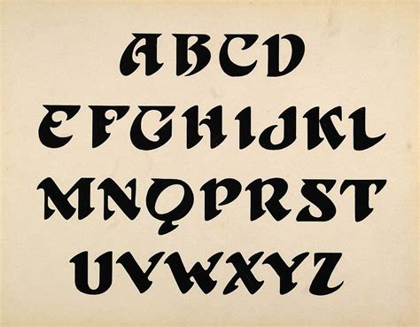 tattoo dragon font 1910 print design art alphabet upper case template letters