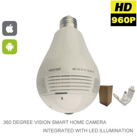 light bulb hidden camera light bulb wifi 1 3mp 360 degree panoramic fish eye ip spy