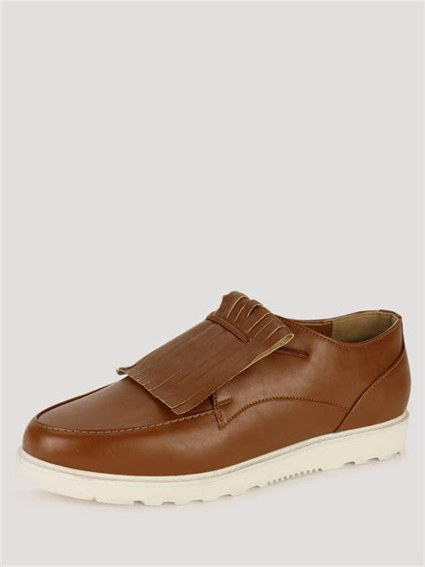 sports loafers buy koovs sports sole kiltie detail loafers for