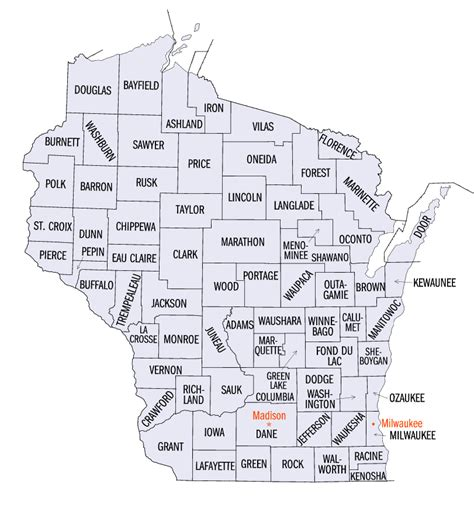 map of wisconsin counties wisconsin county map