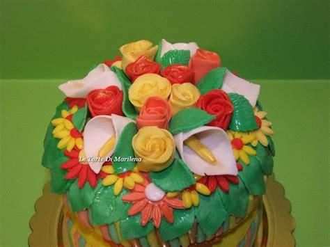 fascio di fiori torta fascio di fiori le torte di marilena