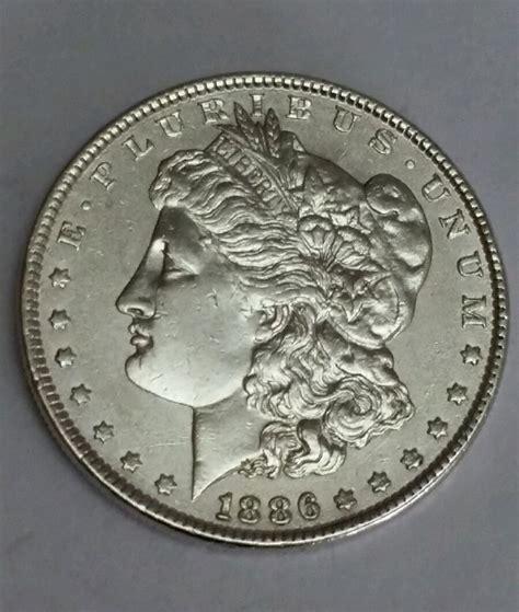 1886 morgan silver one dollar coin circulated ebay