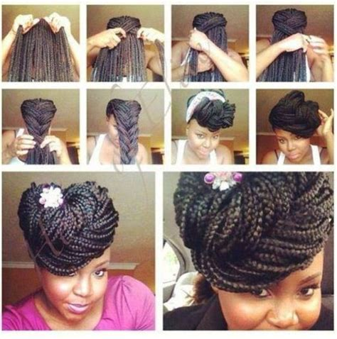 Pin Up Hairstyles With Braids by Braided Pin Up Box Braids Gorgeously Not Yours