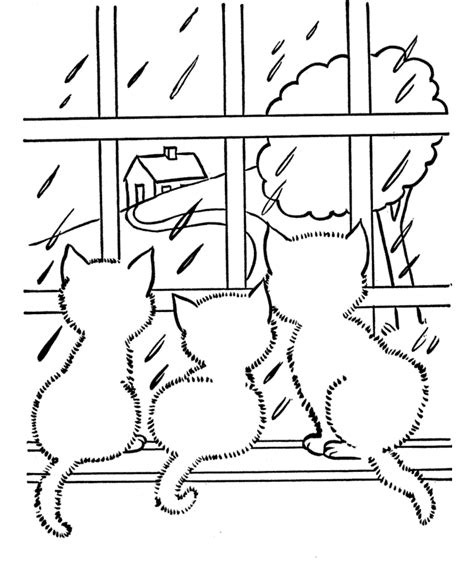 rain coloring pages for kids az coloring pages