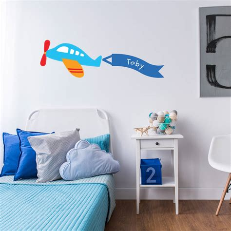 bespoke wall stickers personalised childrens plane wall stickers by parkins interiors notonthehighstreet