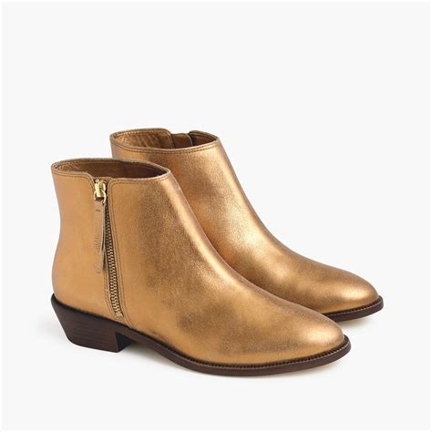 gold ankle boots cr boot