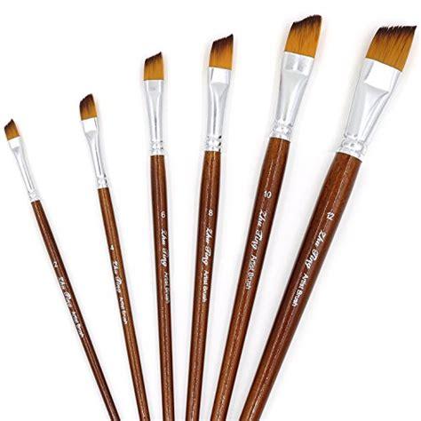 acrylic paint brushes angled paintbrushes 6 pcs paint brush set for