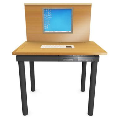Computer Desk Built In The Classicx Variheight Has A Computer Built In Slashgear