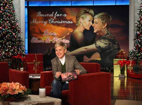 ellen degeneres portia de rossi  celebrity christmas cards  news