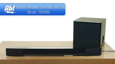 yamaha soundbar  wireless subwoofer yas  overview