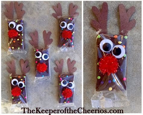 christmas ideas for school rudolph reindeer brownies