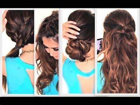 easy hairstyles for everyday zunaixa 6 easy lazy hairstyles how to 5 minute everyday hair
