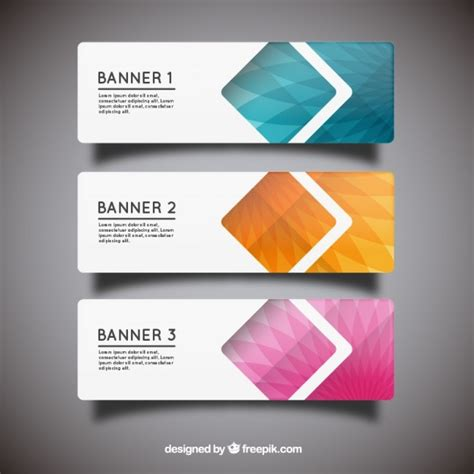 paper banner templates vector free download free banner