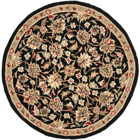 3 Foot Area Rugs Safavieh Chelsea Black 3 Ft X 3 Ft Round Area Rug Hk78a