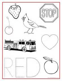 Red Color Activity Sheet Teaching Preschool Pinterest Free Printable Color Worksheets