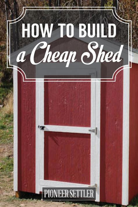 store  save learn   build  cheap shed