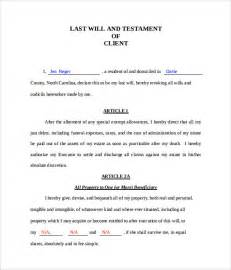 will and testament template free last will templates free printable sle last will