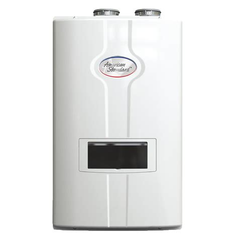 gas tankless water heater american standard 11 0 gpm ultra low high efficiency condensing gas indoor tankless