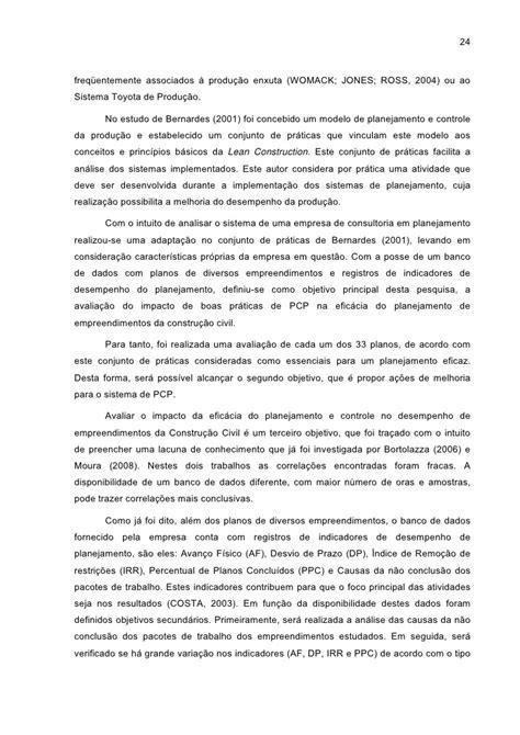 AVALIAÇÃO DE INDICADORES DE PLANEJAMENTO E CONTROLE DA