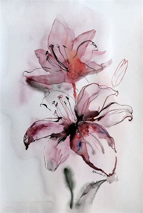 watercolor lily tattoo the 25 best ideas about watercolour flowers on