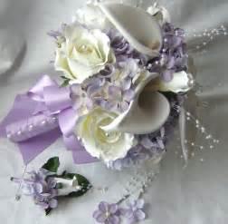 silk wedding bouquet silk bridal bouquet cr 232 me white calla lilies roses lilac hydrangea wedding bouquet and