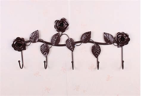Decorative Wall Hook by Rustic Decorative Wall Hooks Wrought Iron Traceless Metal