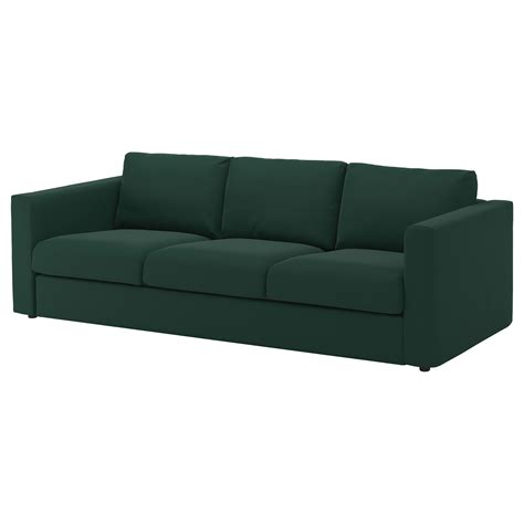 sofa and seats vimle 3 seat sofa gunnared green ikea