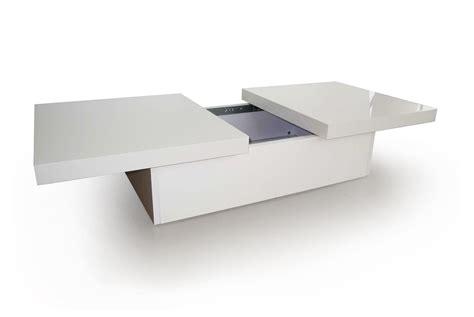 Table Basse Blanche Avec Rangement