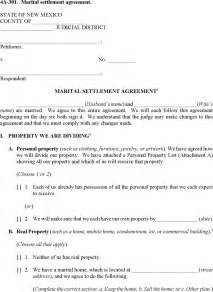 Marital Separation Agreement Template free new mexico marital settlement agreement form pdf 12 page s