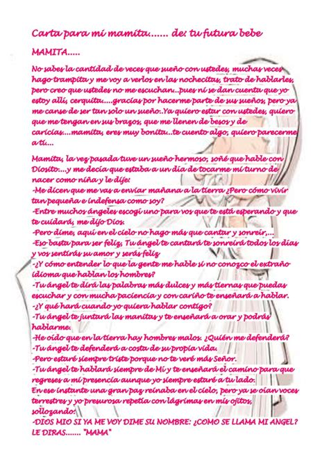 carta para el bebe danygy fotolog carta para mi mamita