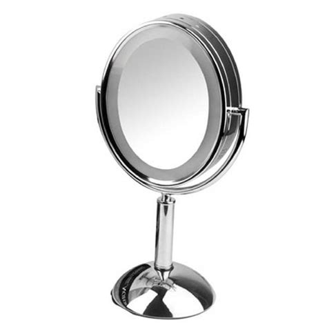 home depot lighted mirrors revlon 8 in x 19 in lighted mirror rvmr9013 the home depot