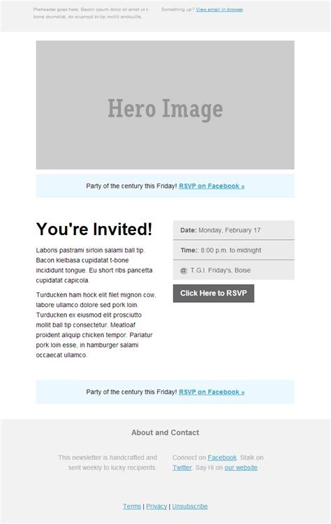 invitation email templates event invitation template best template collection